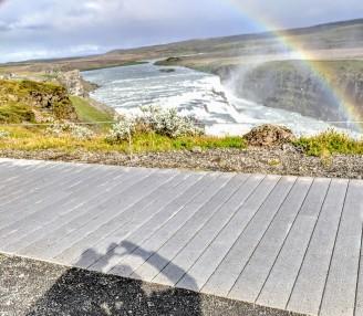 Chasing rainbows at Gulfoss
