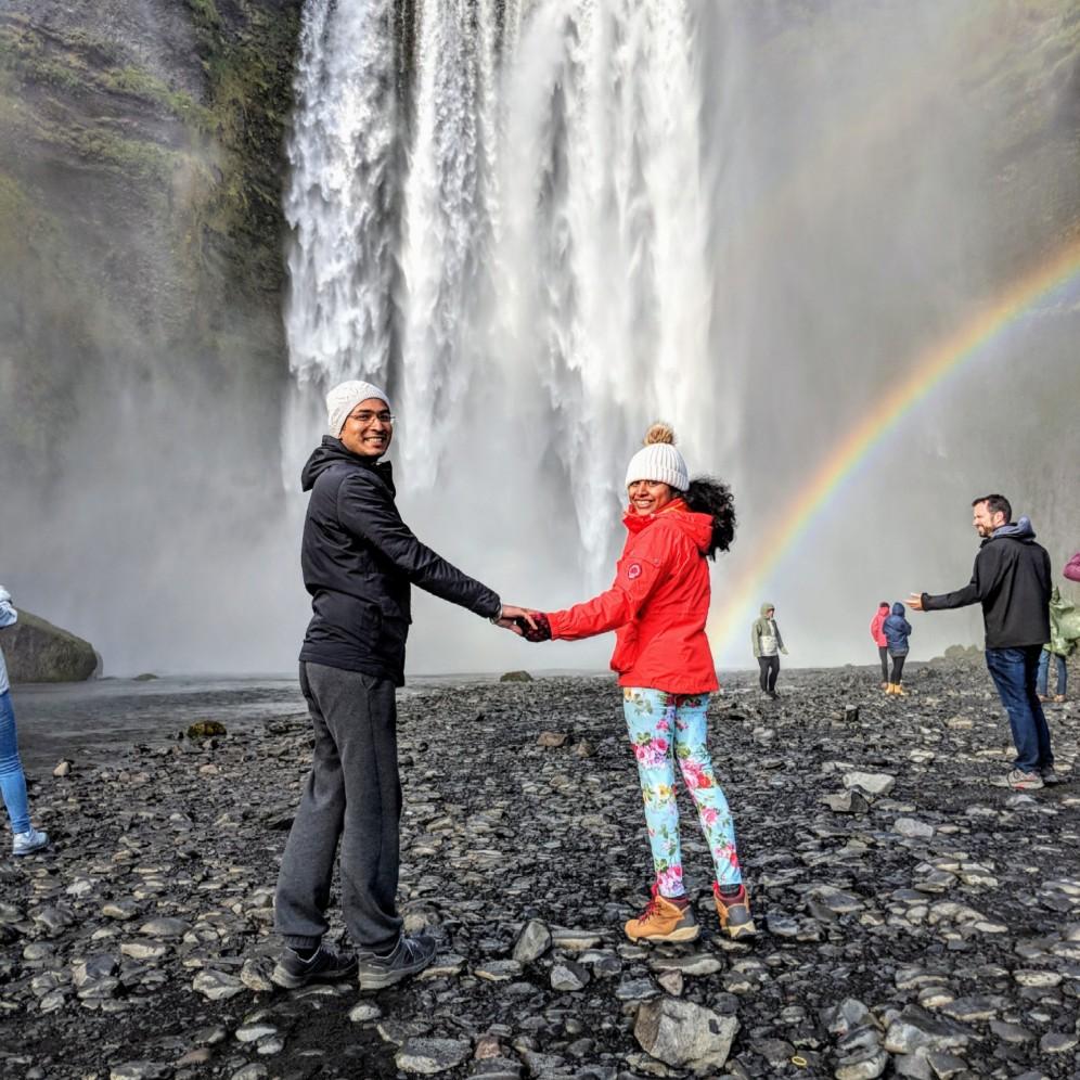 Skógafoss with double rainbow 🌈🌈